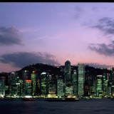 Hong Kong Island, skyline at dusk