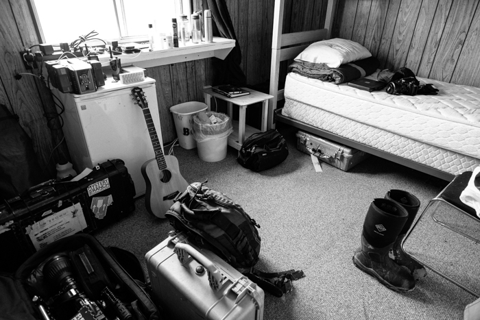 My room, and a selection of my clutter, at the wonderful Toolik field station
