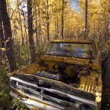 Dead truck, Pilgrim Hot Springs, AK