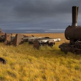 'The Train to Nowhere', near Nome, AK