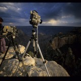 Filming timelapses on the north rim of the Grand Canyon. 'Wild New World' 2000