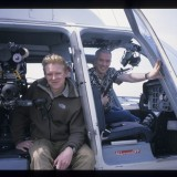 Getting ready to film aerials over LA with Stephen Dunleavey. 'Wild New World', 2000