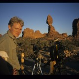 Filming in Arches NP, Utah, 'Wild New World', 2000