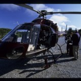 Getting set up for aerials over the west coast of Scotland. 'Natural History of Britain', 2004