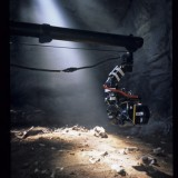 My Jimmy Jib III set up in a cave set built in Central Studios, Bristol. 'Wild New World', 2000