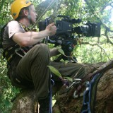 Very high in a tree - courtesy of the Mighty Foggs, filming a Madagascan Hawk Eagle, Masoala, Madagascar, 2010
