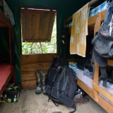 My (damp) hut while filming Silky Sifaka's, Marojejy NP, Madagascar, 2010
