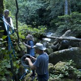 Setting up a cable dolly run with The Mighty Foggs and Ian Gray, Madagascar, 2010