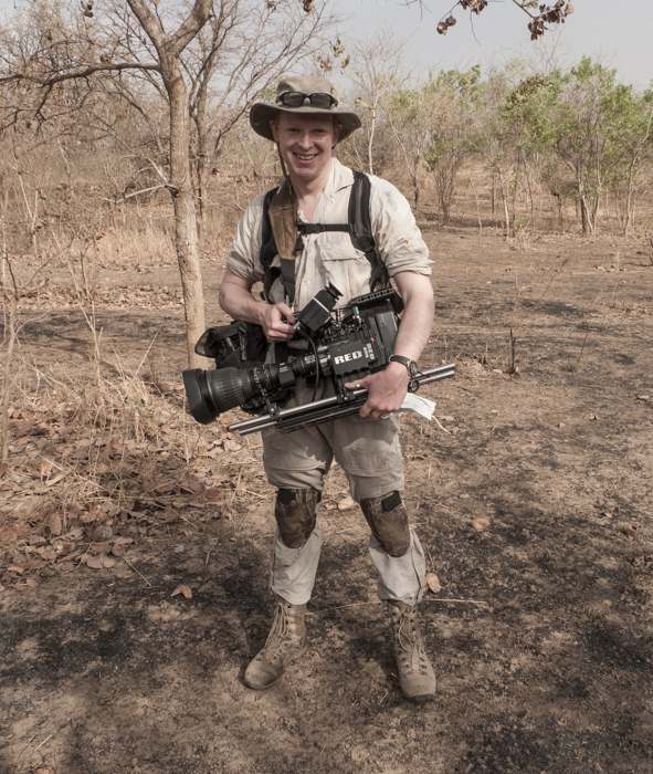 You didn't have to dress like an idiot to film the chimps ... but I did