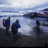 Our ride to work, filming Brown Bears, Prince William Sound, AK. 'Wild New World', 2000
